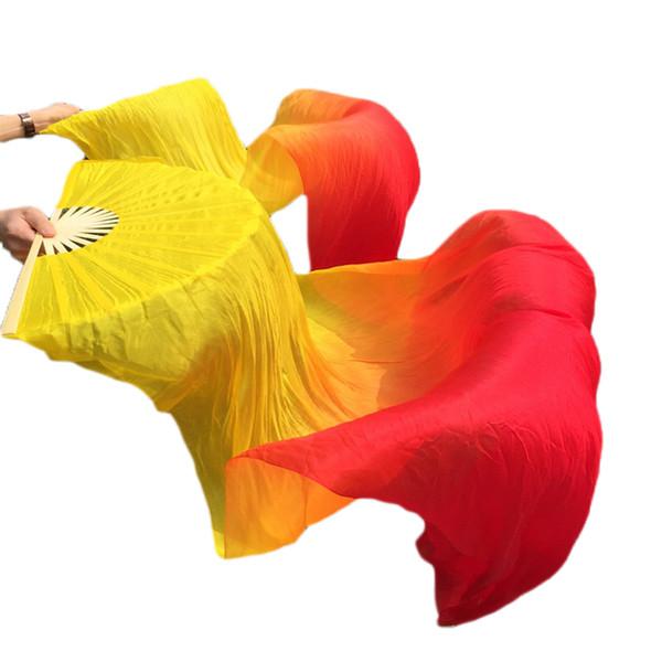 High Quality Belly Dance Fan Veil 100% Chinese Silk Fan Veils Bamboo Handmade Dance Props