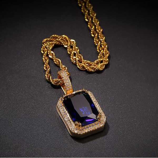 Gold Blue+Rope Chain