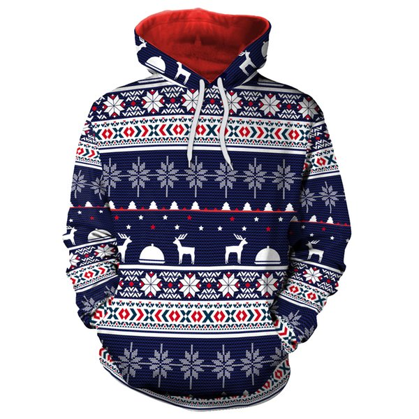 Mens womens hoodie sweatshirt sweat coat pullover jackets autumn Christmas sweater print sweater loose hooded sweater