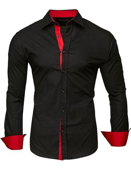Men Shirt Brand 2018 Male High Quality Long Sleeve Shirts Casual Slim Fit Black Man Dress Shirts Plus Size 4XL CS66