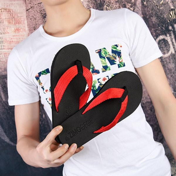 Laamei Beach Flip Flops Men Slippers Shoes Comfortable Men's Sandals Casual Summer Hotsal Shoes Good Quality Brand