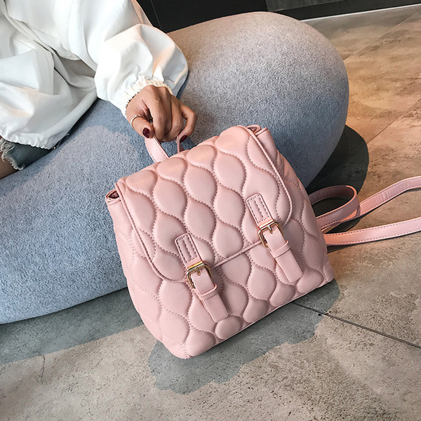 High Quality Small Backpacks For Girls Bag Pack For Women Backpack Bag Red Silver Pink Pu Leather Backpack Women Bagpack 1e12113