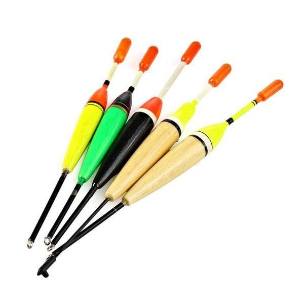 5Pcs / Set Galleggianti da pesca per esterni Set Galleggianti per galleggianti in boa Fluttuante Bastone da pesca Colore della miscela