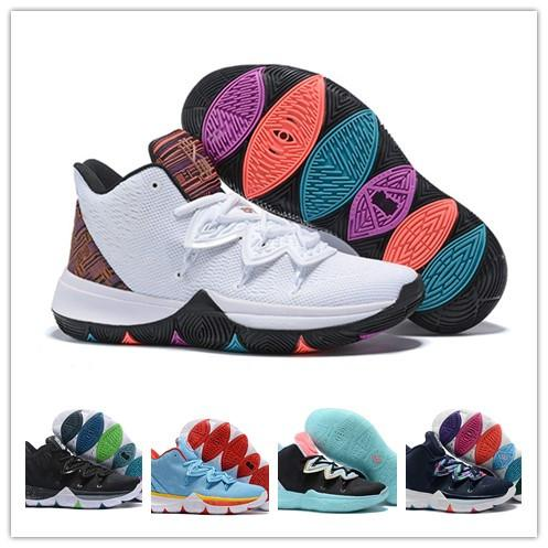 2019 new designer Kyrie V 5 All-Star Basketball Shoes Irving 5S Men Zoom Sport Chaussures Homme High Ankle Sneakers Trainers Size 40-46