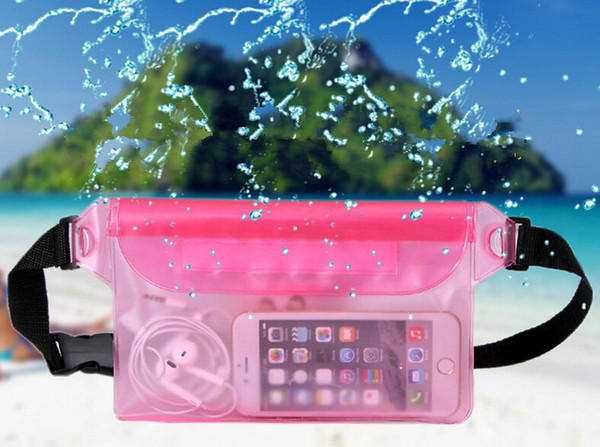 A1942 telefone móvel saco impermeável saco de armazenamento de natação PVC bolso do telefone móvel
