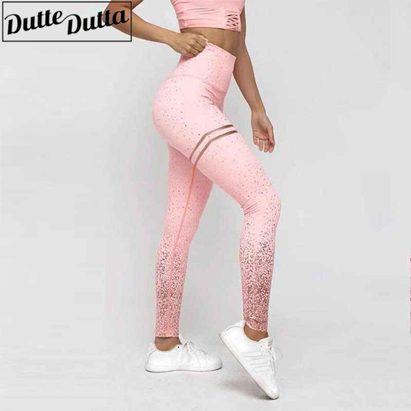 Leggins Sport Women Fitness Tights Sexy Pink Printed Yoga Pants Slim Sports Wear For Women Gym Athletic Leggings Workout Clothes