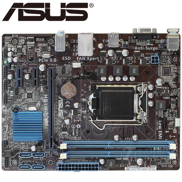 ursprüngliches Motherboard ASUS H61M-E LGA 1155 DDR3 Boards USB2.0 22 / 32nm CPU H61 Desktop-Motherboard Freies Verschiffen