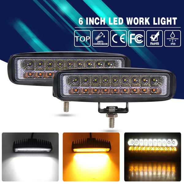 2 Pcs 36 W Lâmpada de Nevoeiro Conduziu a Luz de Condução 3000 K 6000 K Temperatura de Cor Dupla para Kia Lada Niva Uaz Assento Fiat Opel 9-32 V