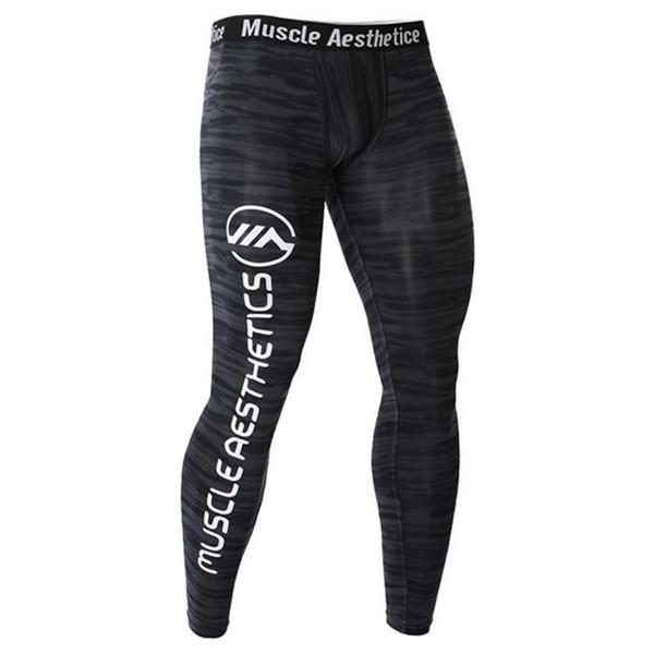 Sıkıştırma Sıkı Pantolon Erkek Spor Salonları Spor Vücut Geliştirme Tayt Erkek Jogging Yapan Egzersiz Sıska Pantolon Crossfit Spor Altları