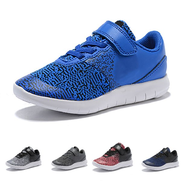 New Style Kids Design Flex Contact Free Run Shoes Training Sneakers Children Running Shoes for Girls Boys Walking Sport Boosts Athletic