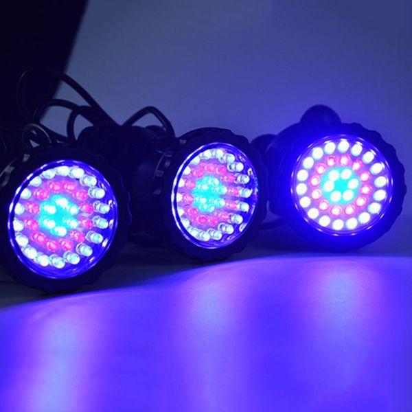 3шт водонепроницаемый подводный свет 7 изменение цвета сад фонтан Аквариум бассейн пруд Аквариум светодиодный прожектор лампы