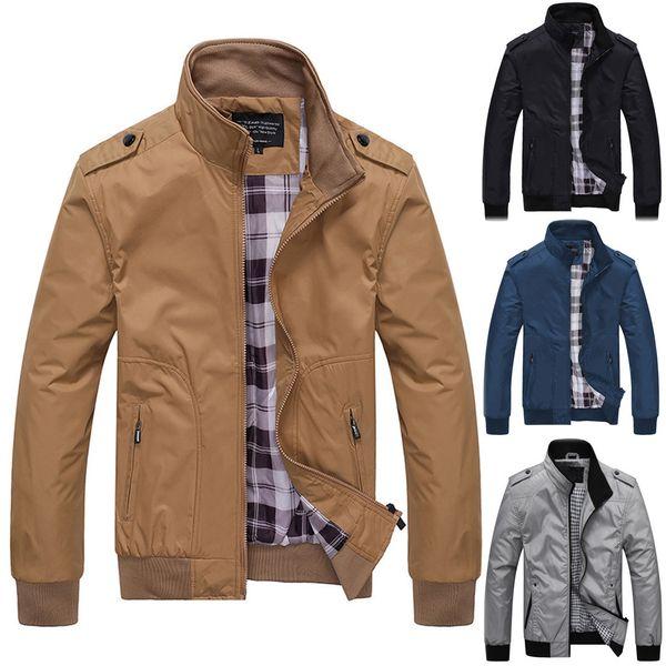 2019 модные мужские куртки осень свободного покроя мода чистый цвет пэчворк куртка сплошной молнии пиджаки пальто прямая поставка July18