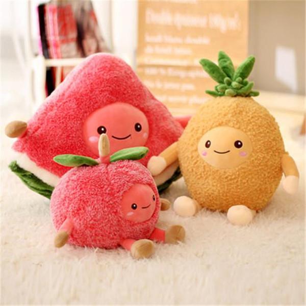 20170612 heißer Verkauf Erdbeere Wassermelone Kreative Kissen Nette Kirsche Plüschtier Mädchen Herz Obst Puppe Cartoon Kinder Geburtstagsgeschenk