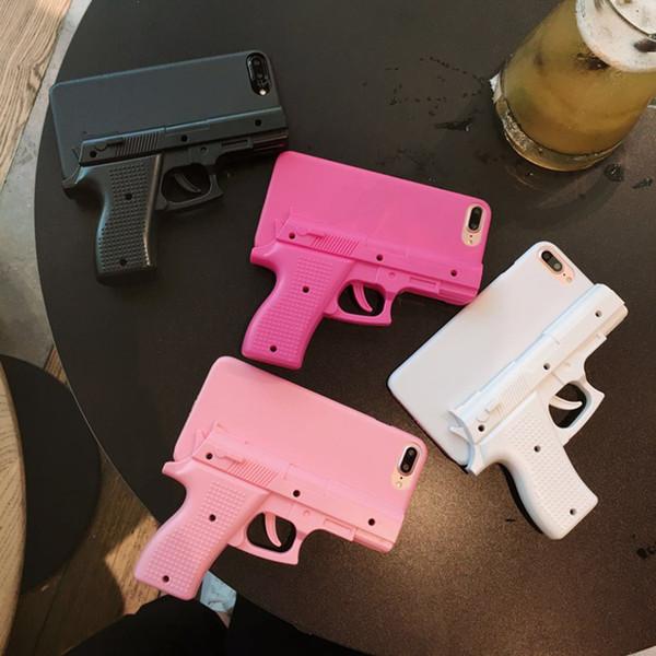 Moda 3d arma de forma dura pc phone case capa case para iphone xr 6 6 s 7 8 plus x xs max pistola brinquedo estilo