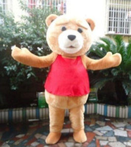 trajes Teddy Bear de TED Adulto Tamanho Halloween Mascote Dos Desenhos Animados Traje Do Vestido Extravagante EVA
