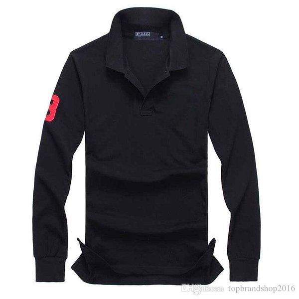 Para hombre diseñador camisetas polo manga larga ropa de bordado de cocodrilo gran caballo pequeño hombre solapa camisa de lujo algodón Ralph marca de impresión Homme