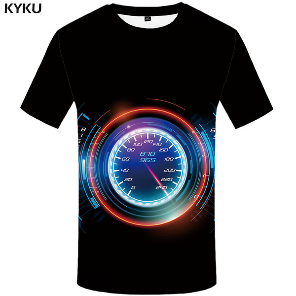 KYKU Brand Car T Shirt Motorcycle T-shirt Men Dash Board Shirts Black 3d T Shirt Mens Clothing China Printed Tee Tops 2017