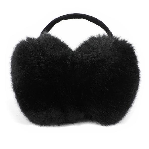 Fashion Casual Solid Cute Fur Ear Muffs Warmer Women Girl Plush Winter Warm Thick Fluffy Behind Head One Size