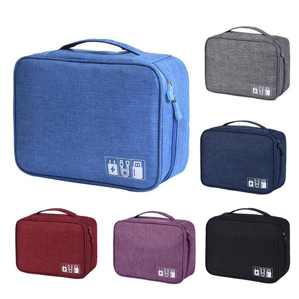 Waterproof Travel Storage Bags Electronics USB Charger Case Data Cable Organizer