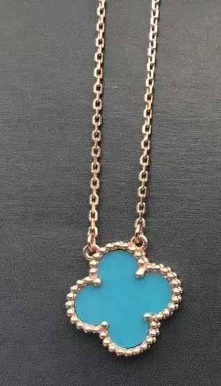 розовое золото + бу ожерелье