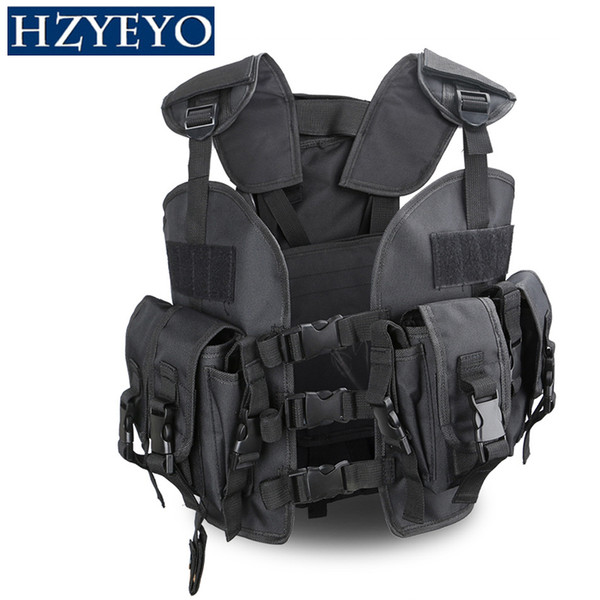 Mini Tactical Chest Airsoft Caça Colete Ranger Verde Militar Tático Colete + 3L Waterbag de Volta, HZYEYO, H-007