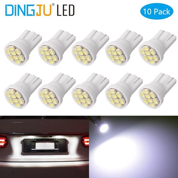 10 piezas led blanco T10 8 smd 8 leds 8SMD 2835 led de coche 194158168192195 W 30W 3020smd cuña de iluminación de automóvil súper brillante
