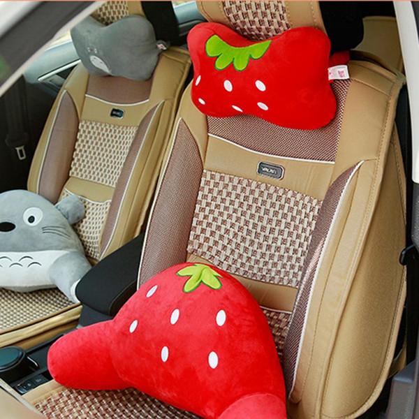 Almohada para el cuello del coche Dibujos animados Animal lindo Soporte para el cuello Reposacabezas Accesorios interiores Asiento del coche Funda de cojín Almohada de viaje