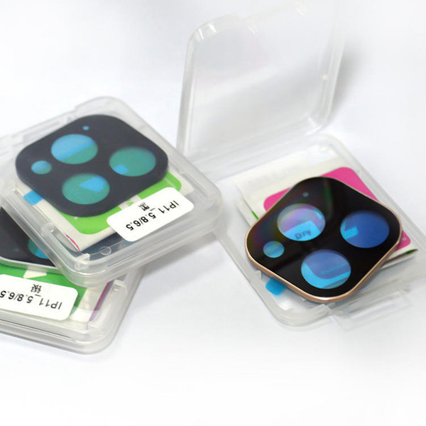 Metal Tam iPhone 11 pro maksimum geri Kamera Ekran camı koruyucu kapak için Kamera Lens Temperli Cam Koruyucu coveraged