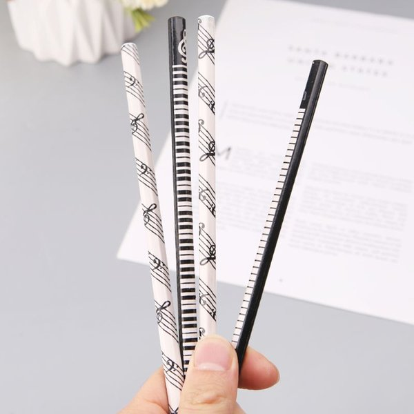 4pcs Musical Note Pencil 2B Standard Round Pencil Music Stationery Piano Notes School Student Gift Prize Promotion
