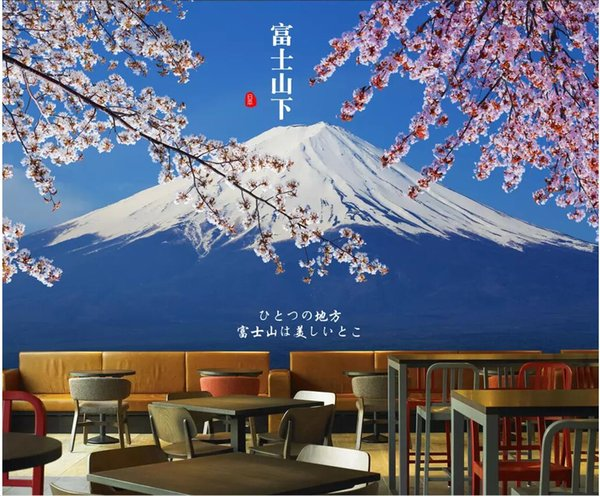 Wdbh 3d Wallpaper Custom Photo Japans Mount Fuji Cherry Blossoms Landscape Tv Background Home Decor 3d Wall Murals Wallpaper For Walls 3 D Hd