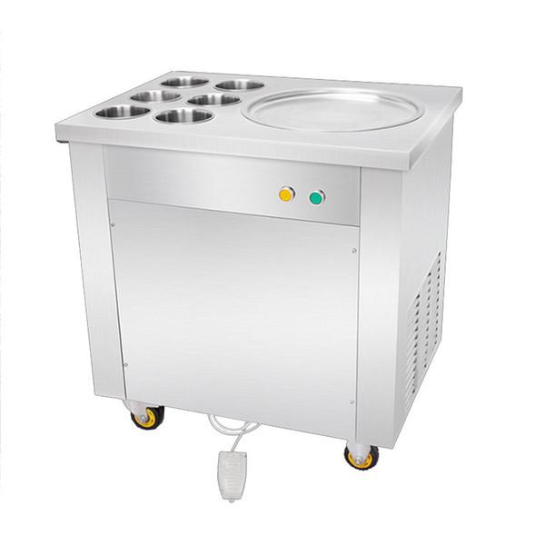 BEIJAMEI Rouleau Plat Commercial Yaourts Frits Roulés Machine Acier Inoxydable Électrique Rouleau De Crème Glacée Machine