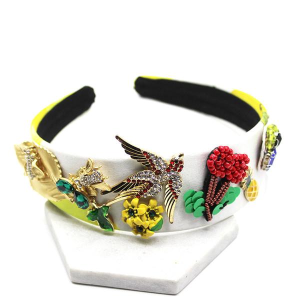 2019 new Baroque European and American birds swallow bee accessories bride catwalk headband fashion hair accessories