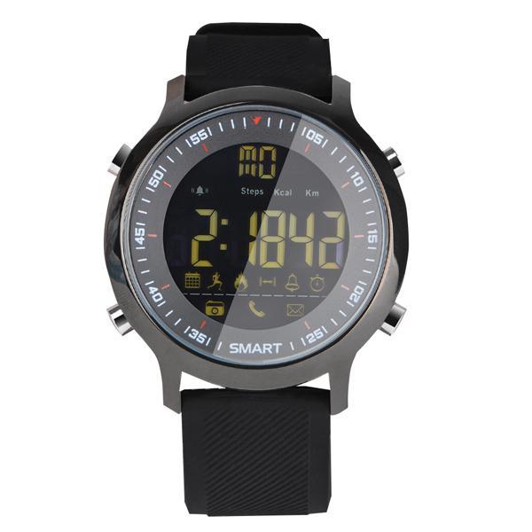 EX18 relógio Inteligente esporte tela Redonda dial luminosa À Prova D 'Água Bluetooth som Brilhante FSTN / vista completa Importado de alta elasticidade silicone TWS