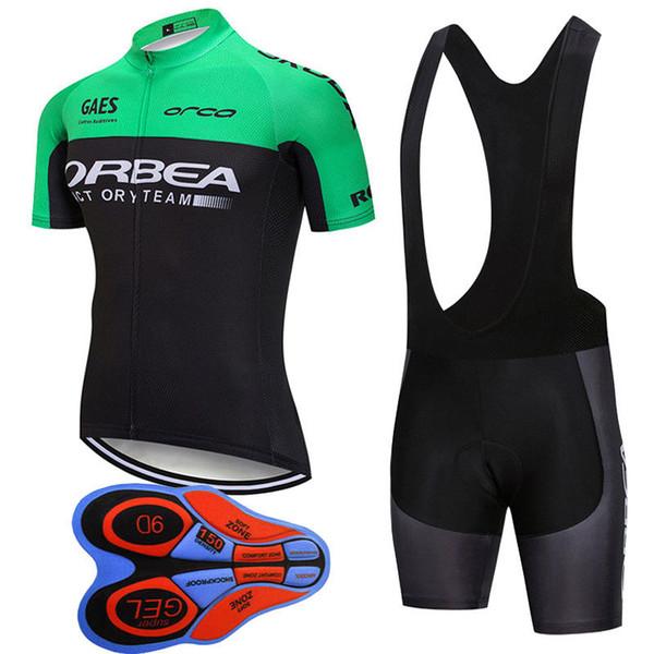2019 Orbea Radtrikot Mtb Fahrradbekleidung Fahrradbekleidung Sportbekleidung Outdoor Sommer Radtrikot Trägerhose Gel Pad J101201