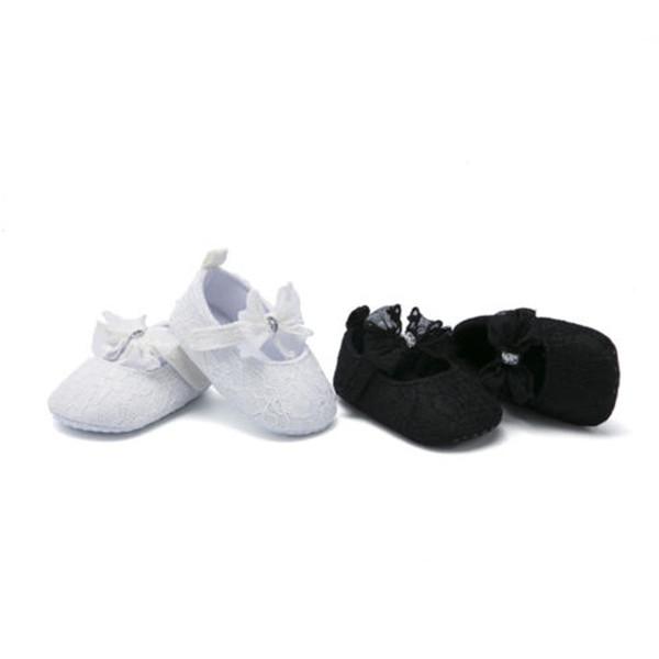 Cute Baby Girl Princess Sweet Lace Flower Shoes Soft Sneaker Prewalkers Girls Solid Color