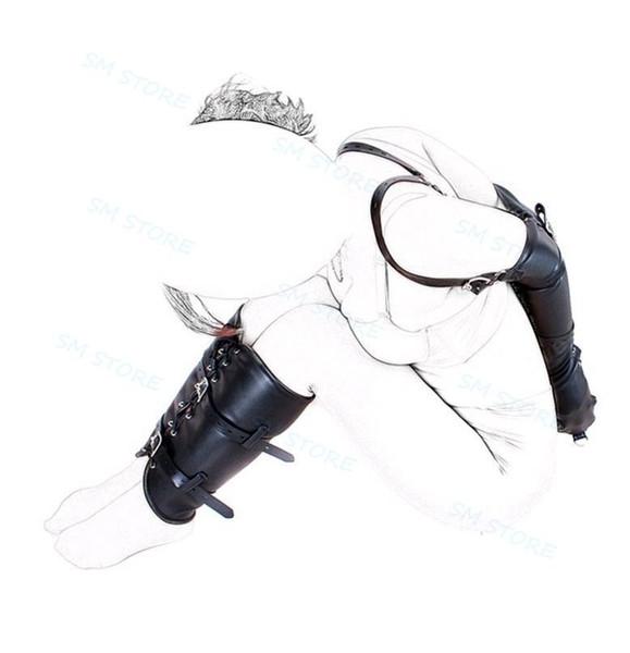 Treatme Armbinder Slave Harness Leg Binder Submission Training Combo Set AU54