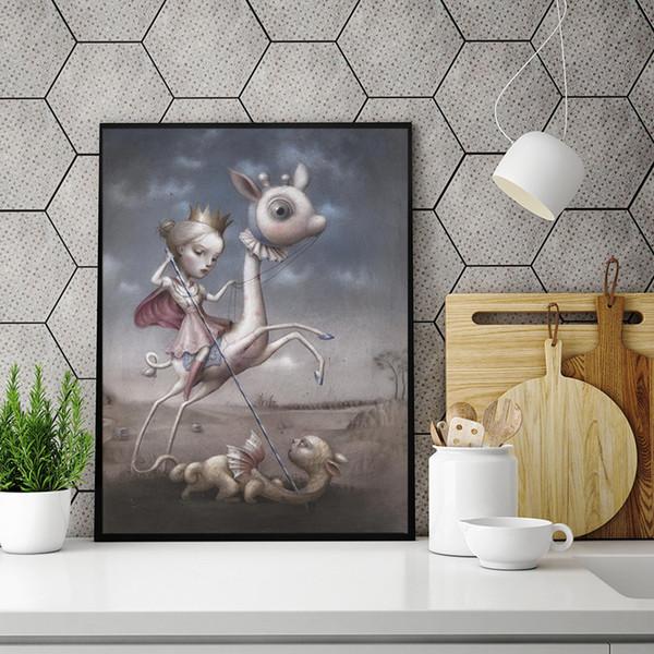 Compre Hermosas Pesadillas Por Nicoletta Ceccoli Lienzo De Pintura Cuadro En La Pared Cartel E Impresión Decoración Para El Hogar Decorativa A 662