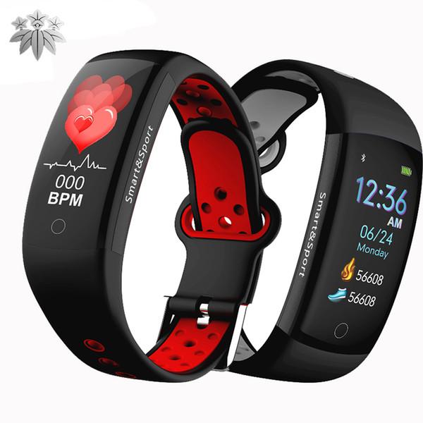 Q6S Smart Bracelet watch color screen HR Fitness Tracker Wristband SleepTracker Waterproof IP68 Activity Tracker Smart bands for cellphones