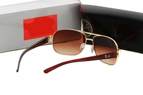 Caso Melhor qualidade de lente de vidro Pilot Vintage Homens Mulheres Sunglasses Brand Design Unisex Espelho Sun Glasses Etiqueta 9067 KVG-489