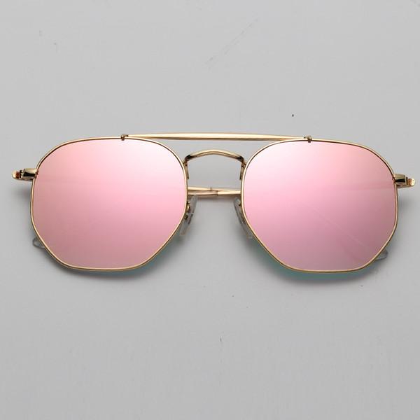 9001 / I1 gradiente de flash de espejo de oro rosa