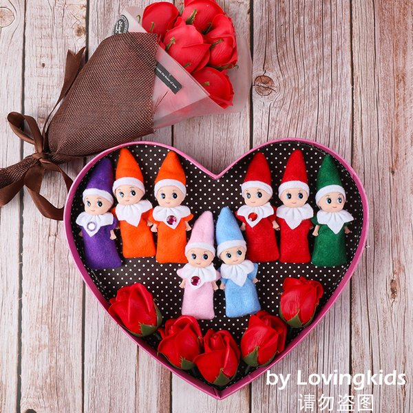 top popular 200 PCS 500 PCS 1000 PCS Free DHL Christmas Decorations Gifts Baby Elf Doll Toy Baby Elves Dolls Childrens Toys Baby Mini Doll 8 Colors 2020