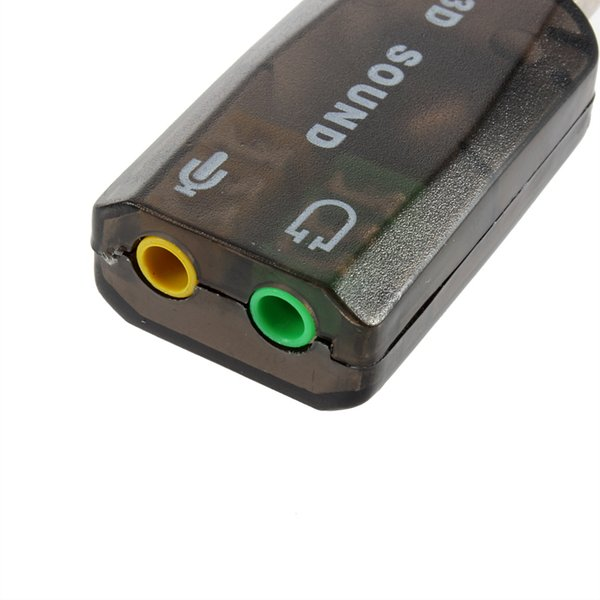 USB Sound Card External 3D Audio Adapter Volume Control 7 1