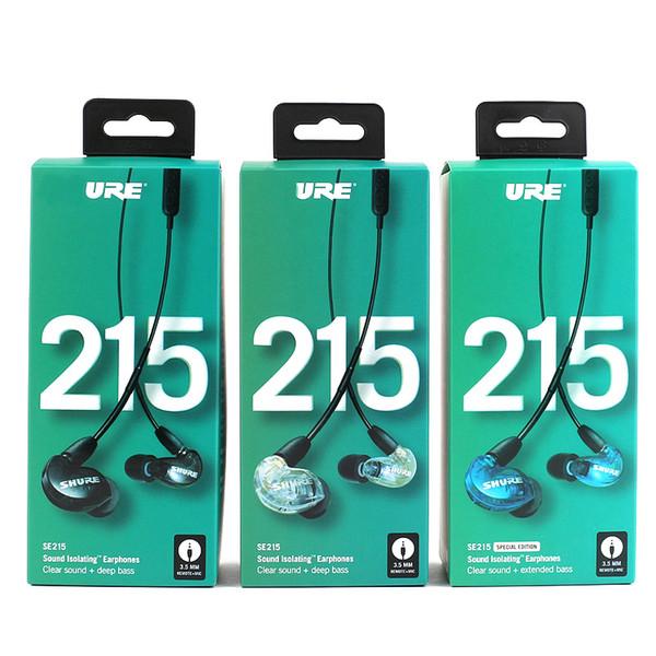 SE215 Earphons Stereo Hi-fi Com Cancelamento de Ruído 3.5 MM SE 215 In ear Fones de Ouvido Detectável Com Fio com Caixa de Versão Especial