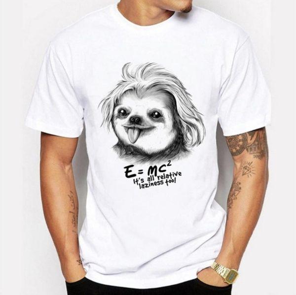 ZOGAA 2019 Albert Einstein T shirt Uomo 3D E = MC2 The Big Bang Theory Tee Streetwear Tops lettera stampa T-shirt