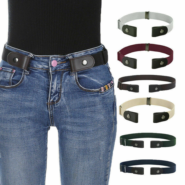 no buckle easy belts women men stretch elastic waist belt band invisible belt accessories fashion new 2019