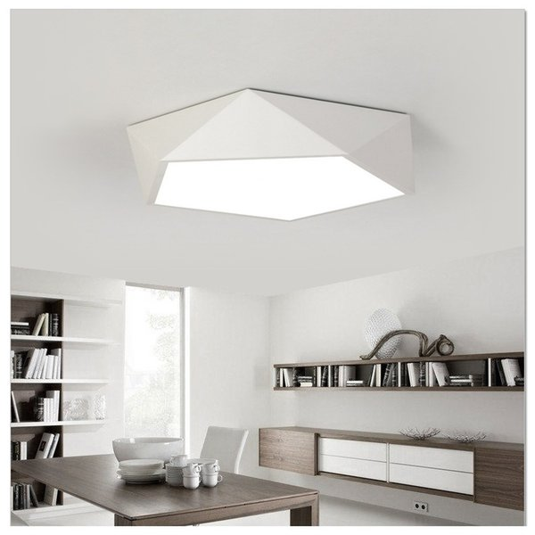 Simple Creativa Moderna Personalidad De Lámpara De RW04 Dormitorio Sala Iluminación Estudio Lámpara Nórdico Geométrica Compre Estar Ultradelgada Techo A35jc4RLq