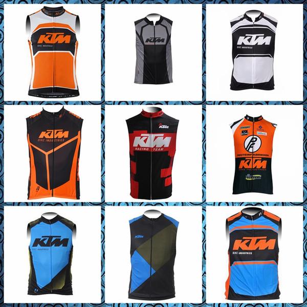 Equipo KTM Ciclismo Jersey sin mangas Chaleco Hombre Ropa Verano Transpirable Secado rápido NUEVO pro Sports Top 51744