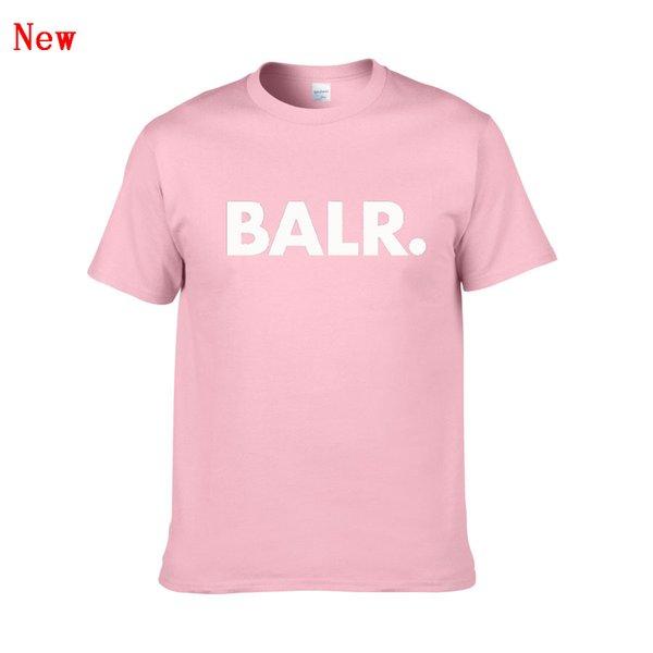 BALR Camiseta con estampado de letras Verano Mujer Hombre Nueva llegada Manga corta Harajuku Camiseta Moda Casual Streetwear Camisetas ZG1
