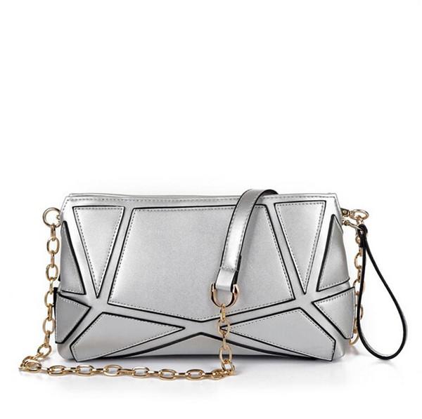 Free Shipping Fashion Women Leather Crossbody Designer Handbag PU stitching Chain Ladies Shoulder Bags Classic Messenger Bags Wholesale