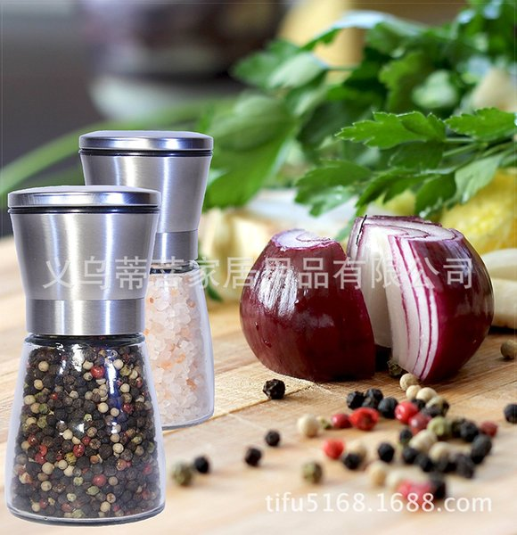Five pieces from the batch ZX-S01 Glass Pepper Mill Manual Stainless Steel Pepper Mill Kitchen Cooking Tools